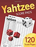 Yahtzee Score Pads: Large size 8.5 x 11 inches 120