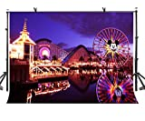 LYLYCTY 7x5ft Disneyland Backdrop Beautiful Disneyland Night View Photography Background and Studio Photography Backdrop Props LYLX282