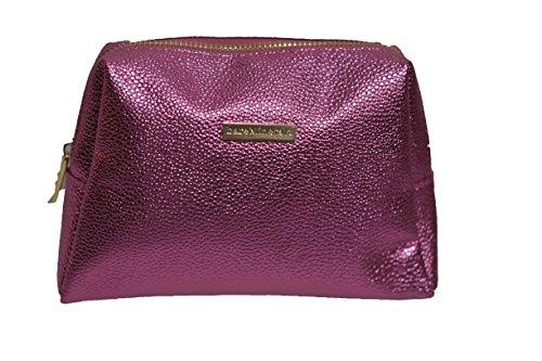 Bare Escentuals Makeup Bags - BareMinerals Metallic Pink Faux Leather Cosmetic Makeup Bag