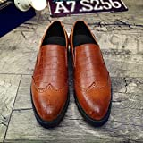 Men's Leather Oxford Shoes Retro Business Slip-On