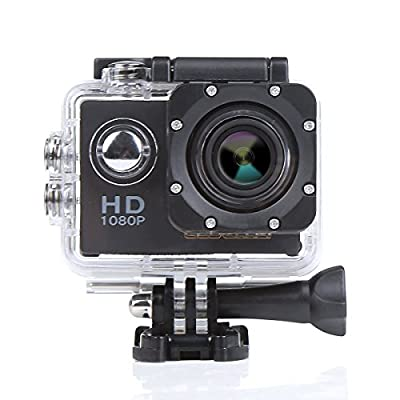 CCbetter 2.0 inches 12MP 1080P Full HD CS720 Waterproof Sports Action Camera 170°wide-angle Helmet Camcorder Diving Video DVR with 2 Batteries and Free Accessories