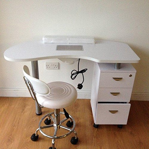 Nail technician table with extractor fan nail ftempo for Nail salon table