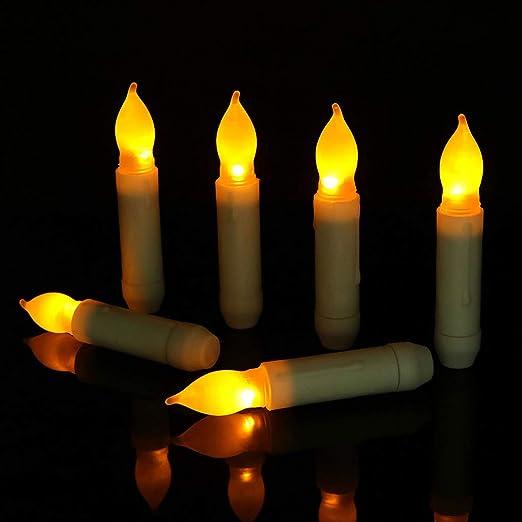Manyo - Vela LED blanca, velas de té falsas sin llama, vela ...