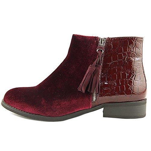 Detailing Shoes Gc Bootie Women's Ankle velvet Gold Zarra burgundy pwTP4wIq