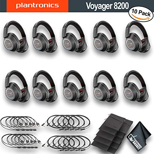 Headset with Active Noise Cancelling Pack of 3 Plantronics Voyager Focus UC Bluetooth USB 202652-101