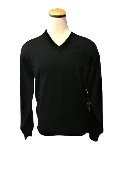 Tundra 100% Merino Wool Solid Big and Tall V-Neck Sweater