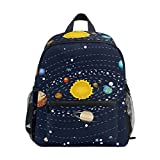 Solar System Planets Kids Backpack Student School Book Bag Travel Casual Daypack