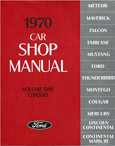 1970 Car Shop Manual (Volume I-V)