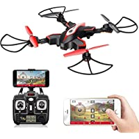 SYMA X56W WIFI FPV Drone With Foldable Arm Pointing Flight Mode 4CH 6Axis Gyro RC Quadcopter RTF - Black
