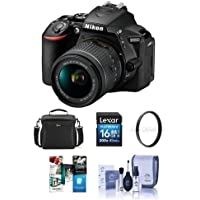 Nikon D5600 DSLR Camera Kit with AF-S DX NIKKOR 18-140mm f/3.5-5.6G ED VR Lens, Black - Bundle With Camera Case, 16GB SDHC Card, 67mm UV Filter, Cleaning Kit, Software Package