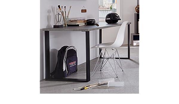 Dreams4Home escritorio Kari – Mesa, scheibtisch, PC de mesa ...