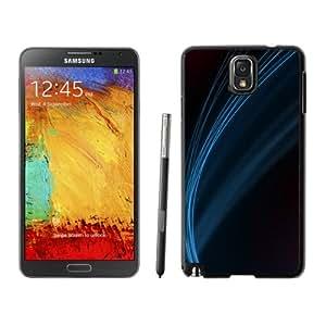 Blue Line Minimalistic Hard Plastic Samsung Galaxy Note 3 Protective Phone Case