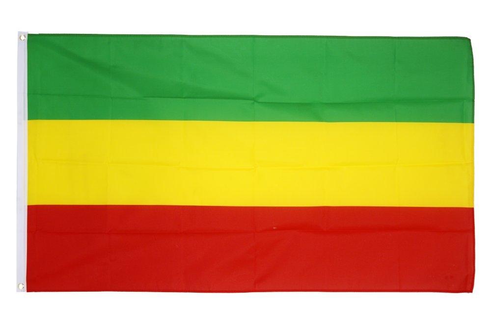 Digni Drapeau Éthiopie sans blason, Rasta - 90 x 150 cm Sticker gratuit