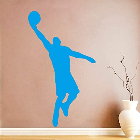 Etiqueta de la pared del jugador de baloncesto Baloncesto ...