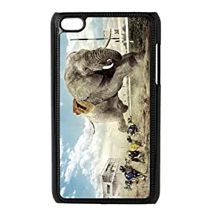 Ipod Touch 4 Elephant Phone Back Case DIY Art Print Design Hard Shell Protection JK081251