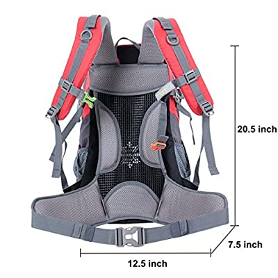 OutdoorMaster 40L Professional Outdoor Sports Backpack with Mesh Ventilation System and Waterproof Cover