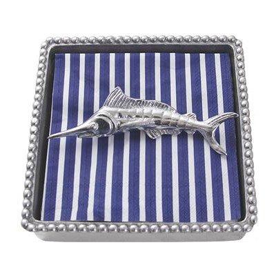 Mariposa Marlin Beaded Napkin Box by Mariposa