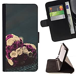 Momo Phone Case / Flip Funda de Cuero Case Cover - Valentines bouquet floral - Huawei Ascend P8 (Not for P8 Lite)