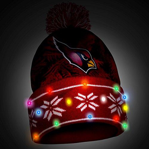 ac8d5f72dadb45 Arizona Cardinals Big Logo Light Up Pom Beanie – Football Theme Hats