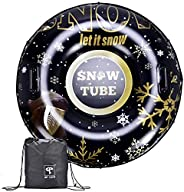 Snow Tube, 47 Inch Large Size Inflatable Snow Sled, GP TOYS Winter Outdoor Sports Toys for Kids and Adults