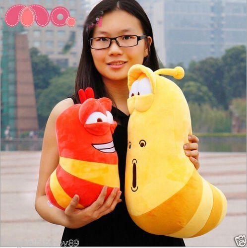 2PC Korea hilarious insect Larva Farting Larva Plush Toys birthday gift 30-20CM /item# G4W8B-48Q53769