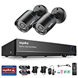 SANNCE 8CH Full HD 1080N DVR Security Camera System with NO Hard Drive and (2) 720P 1500TVL Night Vision Bullet Surveillance Cameras, IP66 Weatherproof, QR Code Scan Remote Access