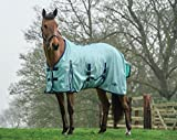 Saxon Mesh Standard Neck Fly Sheet 75 Aqua/Navy