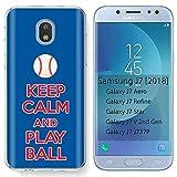 [Mobiflare] Samsung Galaxy (J7 2018) (J737) [J7 Aero / J7 Star / J7 Refine / J7 Top,] Ultraflex Thin Gel Phone Cover [Play Ball - Philadelphia Print]