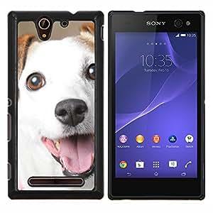 YiPhone /// Prima de resorte delgada de la cubierta del caso de Shell Armor - Jack Russell Sonrisa Mutt Perro Mestizo - Sony Xperia C3