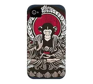 Zen Sapience iPhone 4/4s Navy Blue Tough Phone Case - Design By Humans wangjiang maoyi