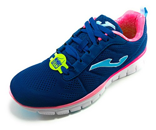 Joma Women's Tempo Lady Fitness Shoes, Blue Blue (Marino-fucsia 704)