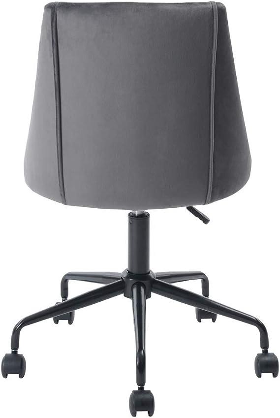 Sep Home Bürostuhl, ergonomischer Sitz, Stoff, Velours, Metall, schwarz, höhenverstellbar, 360 Grad drehbar grau