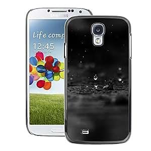A-type Arte & diseño plástico duro Fundas Cover Cubre Hard Case Cover para Samsung Galaxy S4 (Black Rain Raindrop Water Sad Black Dark)