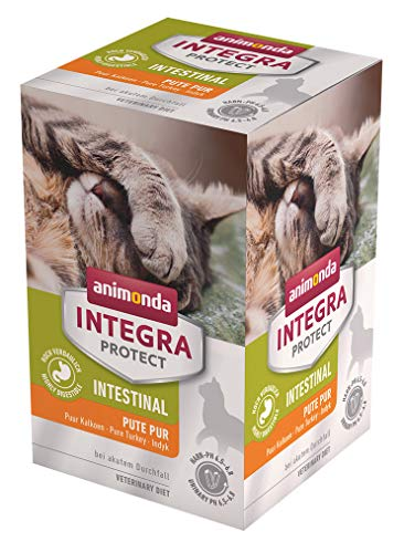 animonda Integra Protect Intestinal Katze, Diät Katzenfutter, Nassutter bei Durchfall oder Erbrechen, Pute pur, 6 x 100…