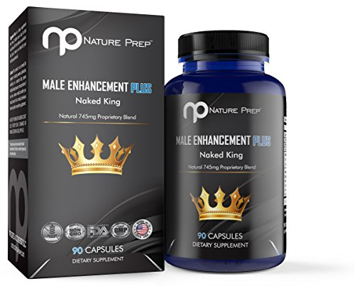 Naked King Natural Male Enhancement Pills, Libido Enhancer for Longer Lasting Erections, Increase Sex Drive, Improve Sexual Health and Wellness, 100% Natural, Made in USA, 90 Pills