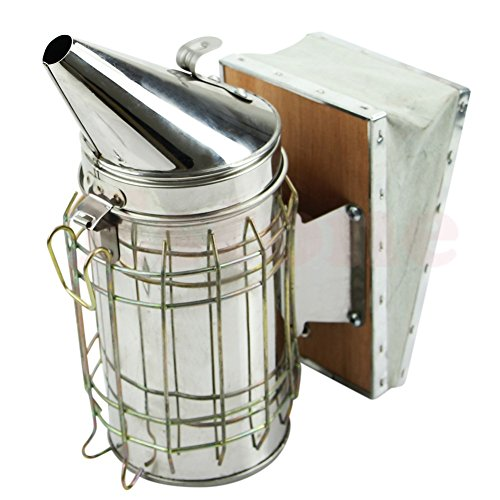 New Bee Hive Smoker Stainless Steel with Heat Shield Protection Beekeeping Equipment by Unknown