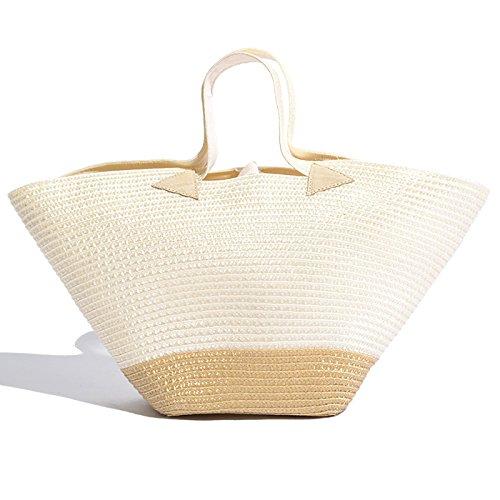 (ベルティーニ) Bertini かごバッグ [並行輸入品] B072WQ6W6W  White/Beige ワンサイズ