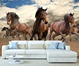 StickersWall Wild Horses Wildlife Animal Nature Wall Mural Photo Wallpaper Picture Self Adhesive 1113 (228cm(W) x 161cm(H)) by StickersWall