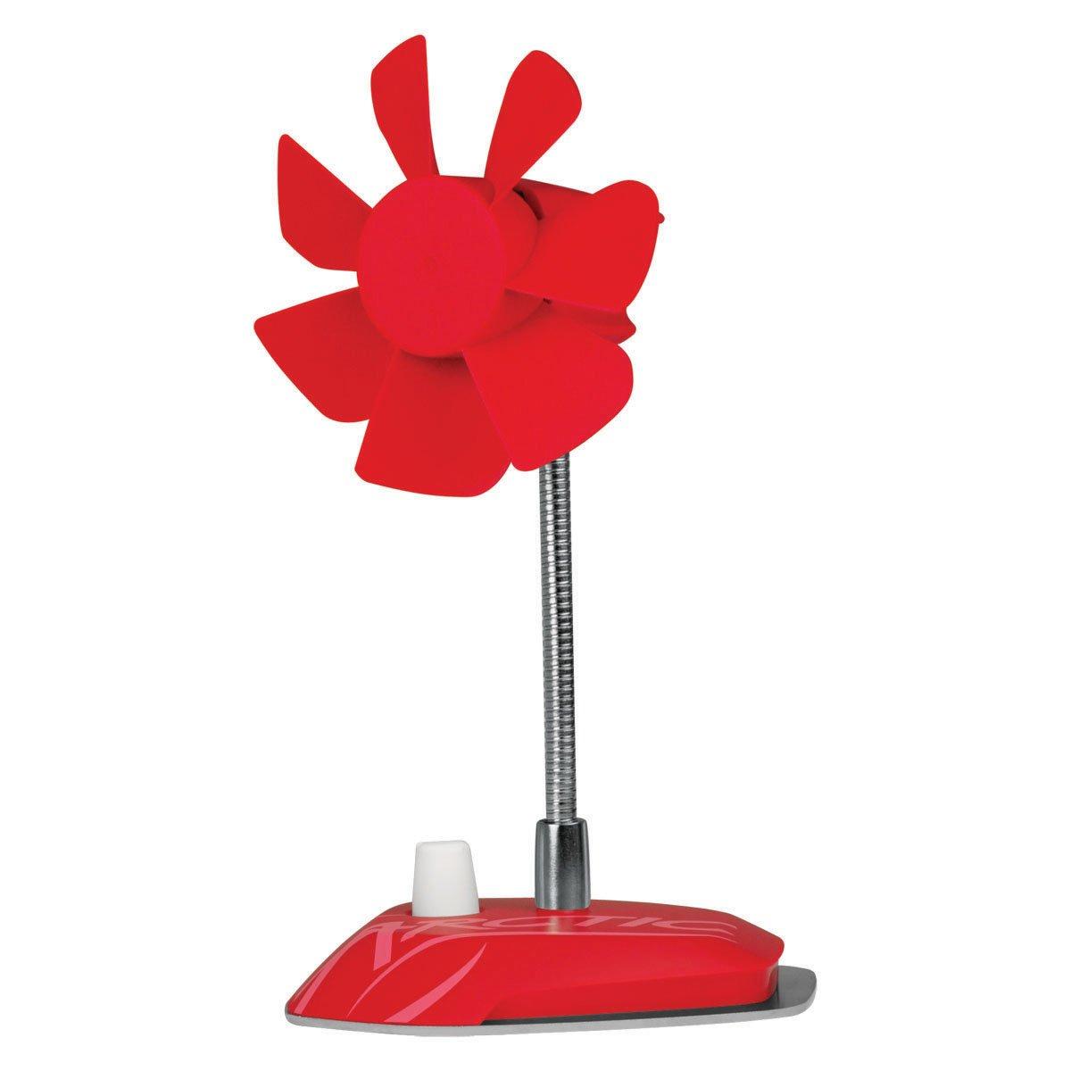 ARCTIC Breeze - USB Desktop Fan with Flexible Neck and Adjustable Fan Speed I Portable Desk Fan for Home, Office I Silent USB Fan I Fan Speed 800-1800 RPM - Red