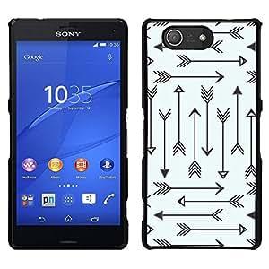 "Pulsar Snap-on Series Teléfono Carcasa Funda Case Caso para Sony Xperia Z3 Compact , Modelo tribal Archery Amor minimalista"""