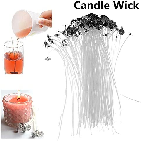 skonhed Candle Wicks 2.6cm 100pcs Handmade DIY Candle Making Supplies Smokeless with Sustainer Cotton Core 100PCS