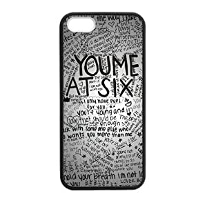 Pink Ladoo? iPhone 5 5s Case Phone Cover Hard Plastic You Me at Six Pop Punk Band Laser