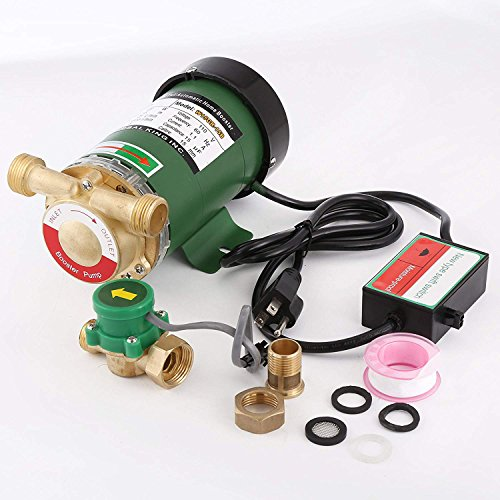 HSH-Flo 120V 60Hz 120W 25LMin Electronic Automatic Home Shower Washing Cast  Iron Water Booster Pump New With US Plug
