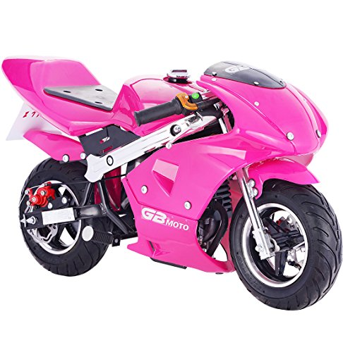 Pocket Bike Mini Motorcycle 4 Stroke Gas Power (Pink) (Four Stroke Motor)