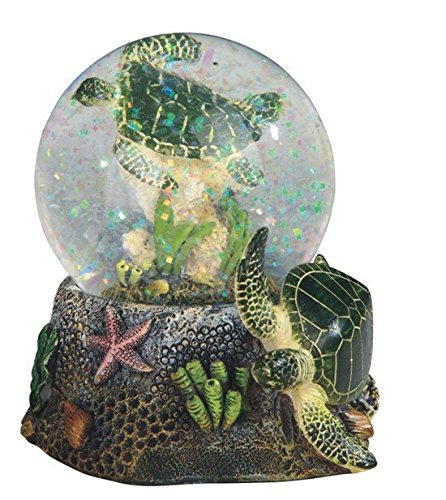 StealStreet Marine Life Snow Globe with Sea Turtle Statue Figurine, 3.75
