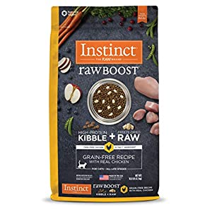Instinct Raw Boost Grain Free Recipe with Real Chicken Natural Dry Cat Food by Nature's Variety, 10 lb. Bag 93