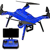 MightySkins Protective Vinyl Skin Decal for 3DR Solo Drone Quadcopter wrap cover sticker skins Blue Bandana