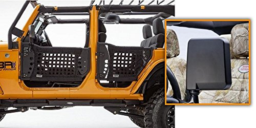 Body Armor Complete Set of 4 Trail Doors & 2 Trail Mirrors 07-16 Jeep JK U 4dr (Best Lightweight Body Armor)