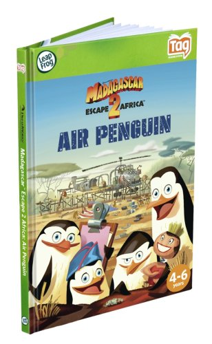 Leapfrog LeapReader & Tag Activity Storybook Madagascar: Escape 2 Africa Air Penguin -