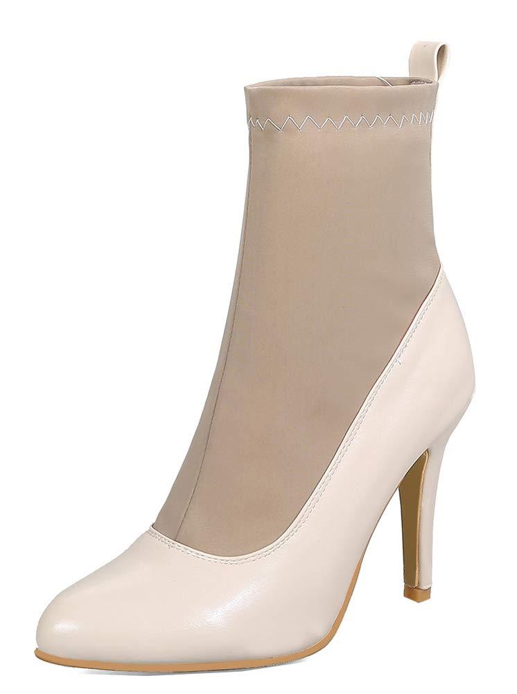 Easemax Aiguille Femme Mignon Chaussure 18088 Montante Talon Montante Aiguille Pointue Bottines Abricot 8d3ba19 - avtodorozhniks.space